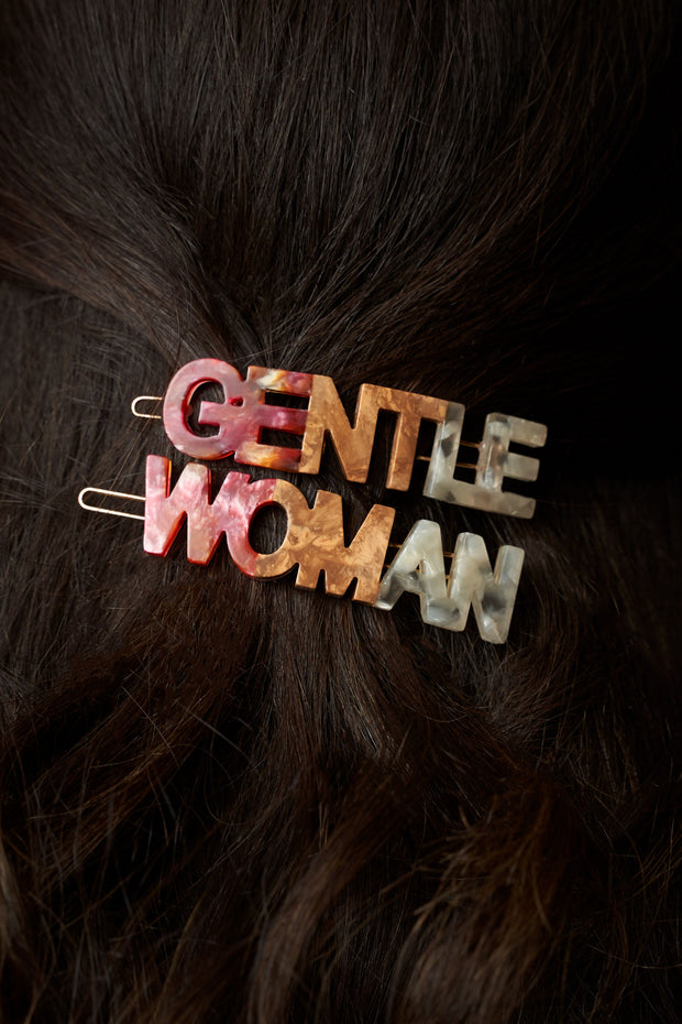 Gentlewoman's Agreement® Hair Clip Set in Coral 1