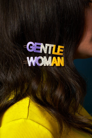 Gentlewoman's Agreement™ Hair Clip Set in Purple
