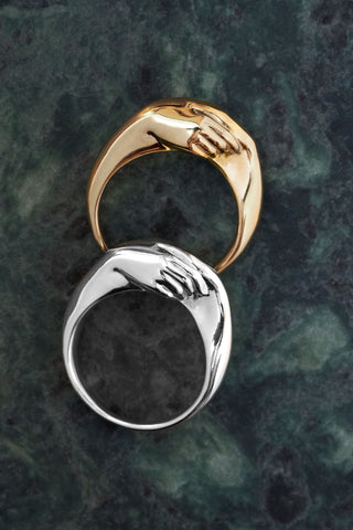 A Gentlewoman's Agreement Ring in Gold Vermeil