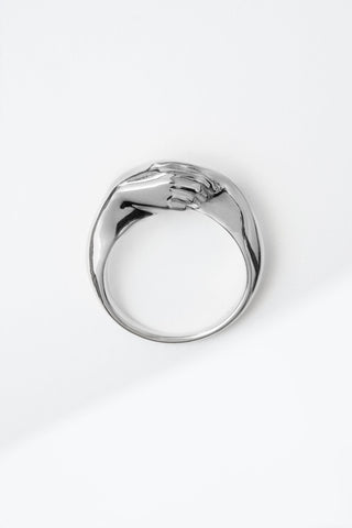 A Gentlewoman's Agreement Ring in Sterling Silver