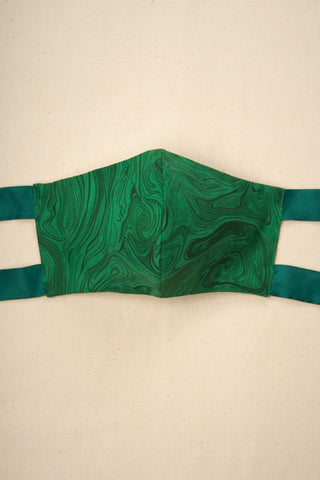 Fabric Face Mask in Malachite