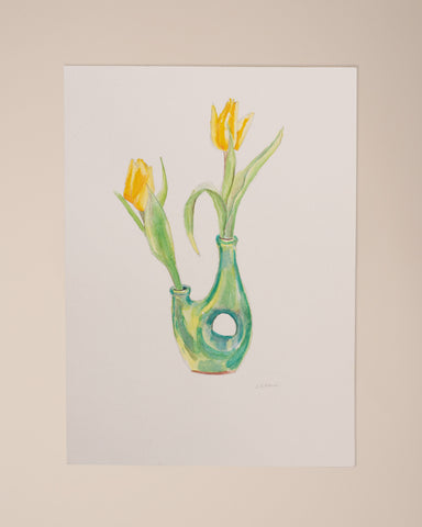 Tulipani Gialli Watercolor