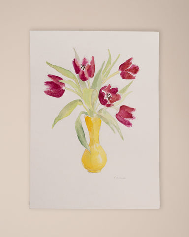 Tulipani Rossi Watercolor