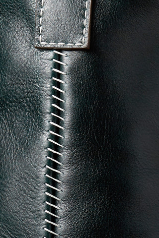 Handstitched Details on the 706 Leather Bucket Bag