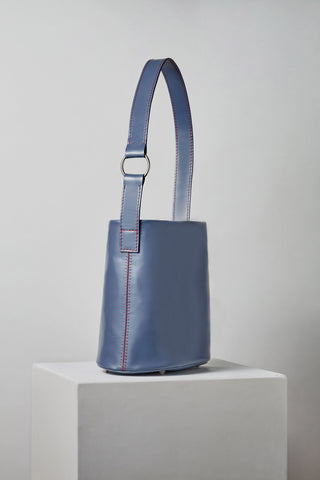 MLE Leather 706 Bucket Bag Cadet Blue Angle
