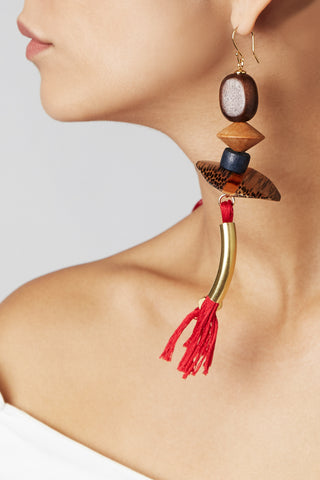 A close-up view of the Graziella earrings
