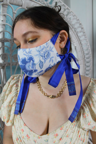 Cotton Face Mask in Royal