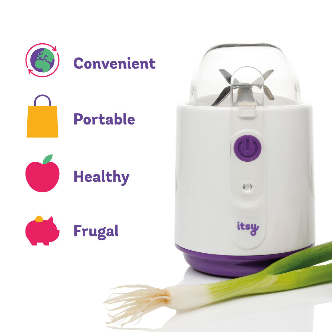 Our Itsy Blitz portable baby food blender is convenient, portable, healthy and is frugal too and saves money on your baby food bill by making fresh baby food recipes on the go here, there and everywhere!