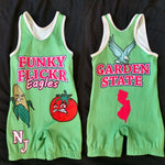 Funky Flickr Eagles NJ Garden State singlet (green)