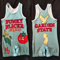 Funky Flickr Eagles NJ Garden State singlet (blue)