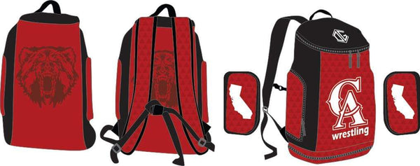 California Wrestling red gear bag