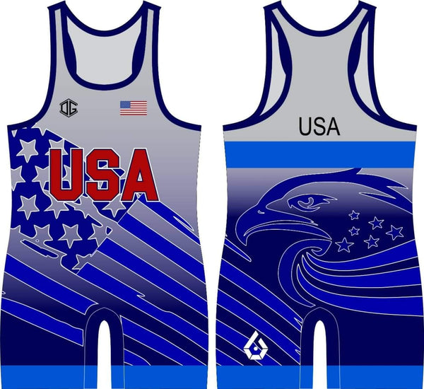 USA World Team singlet (blue)