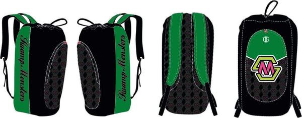 Swamp Monsters mesh oversized wrestling gear bag (black)