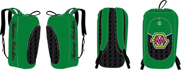 Swamp Monsters mesh oversized wrestling gear bag (green)