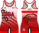 USA World Team singlet (red)