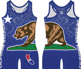 California Wrestling singlet (blue)