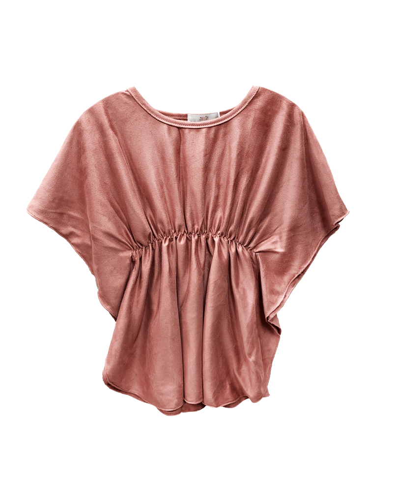Cinched Poncho Top-Dusty Pink