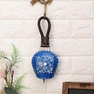 Hand Painted Cow Bell (Blue)