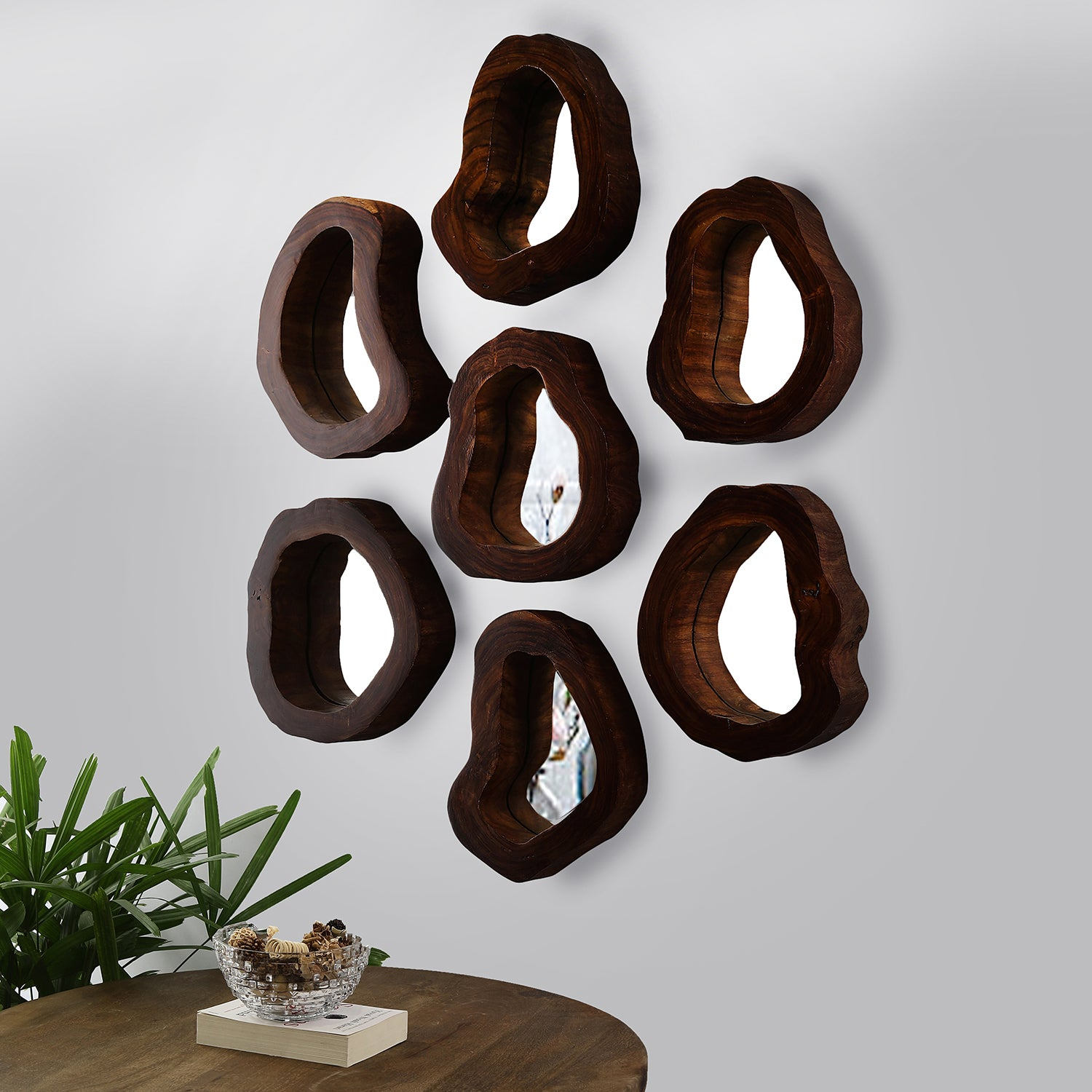 Tree Hollow Mirrors (set of 8)