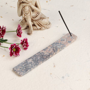 The Marble Slate - Incense Holder (Pink and Grey)