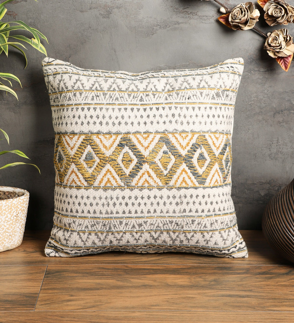 Embroidered Contemporary Cushion Cover (Single)