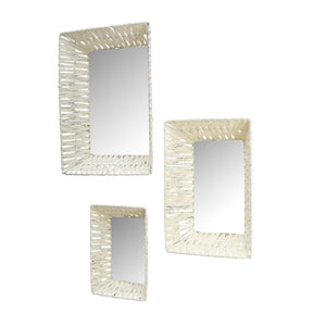 Bohemian Style Wall Mirrors (Rectangle) - Set of 3