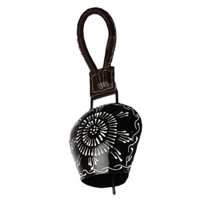 Hand Painted Cow Bell (Black)