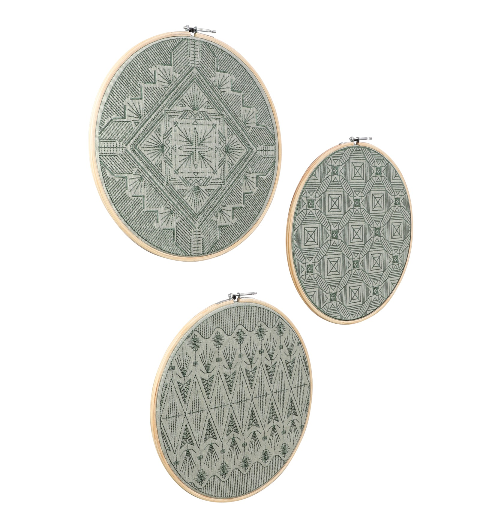 Embroidered Hoops (Single)