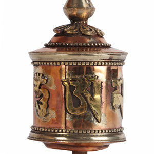 Buddhist Prayer Wheel - Table Top (Lineage Text)