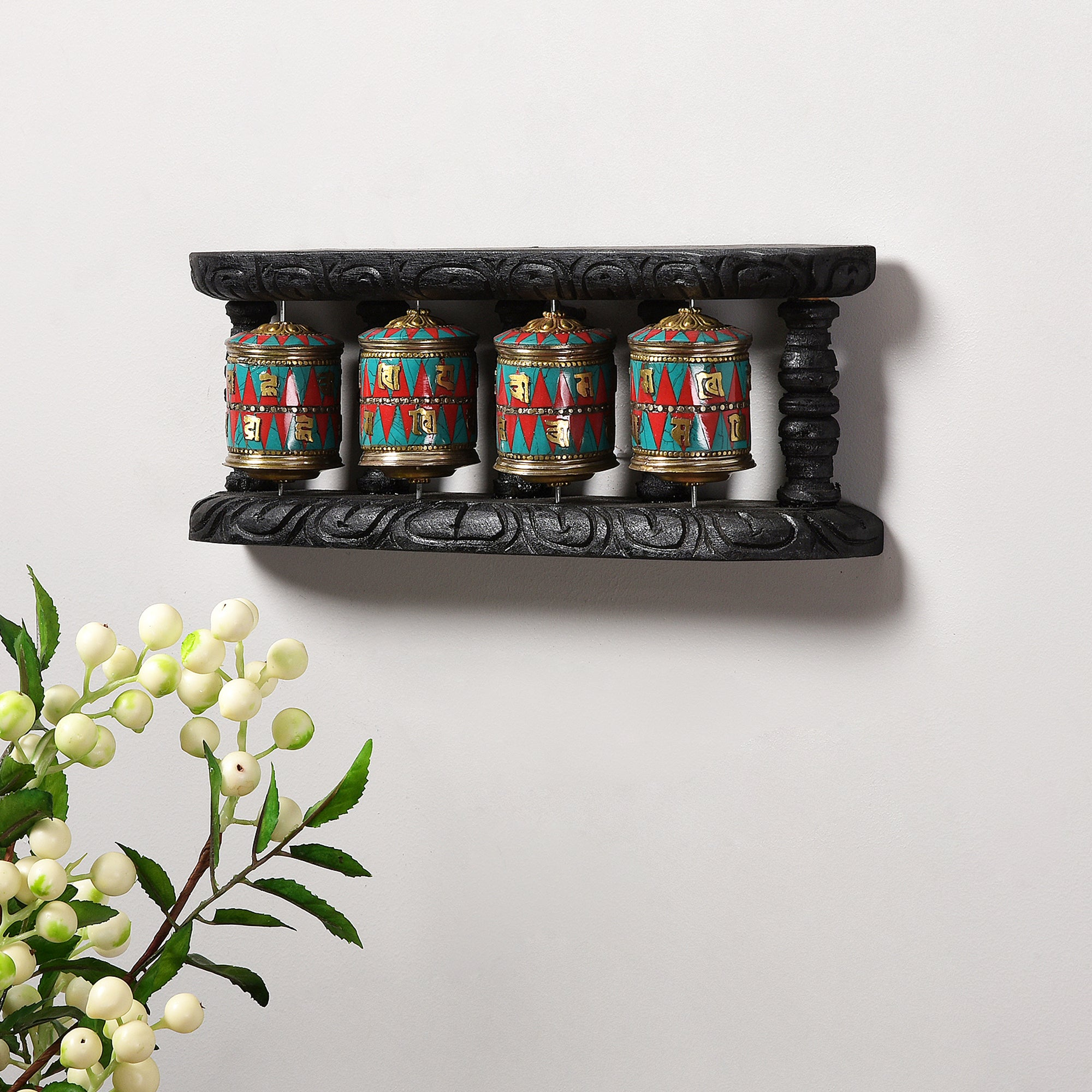 Handcrafted Buddhist Prayer Wheel (set of 4)