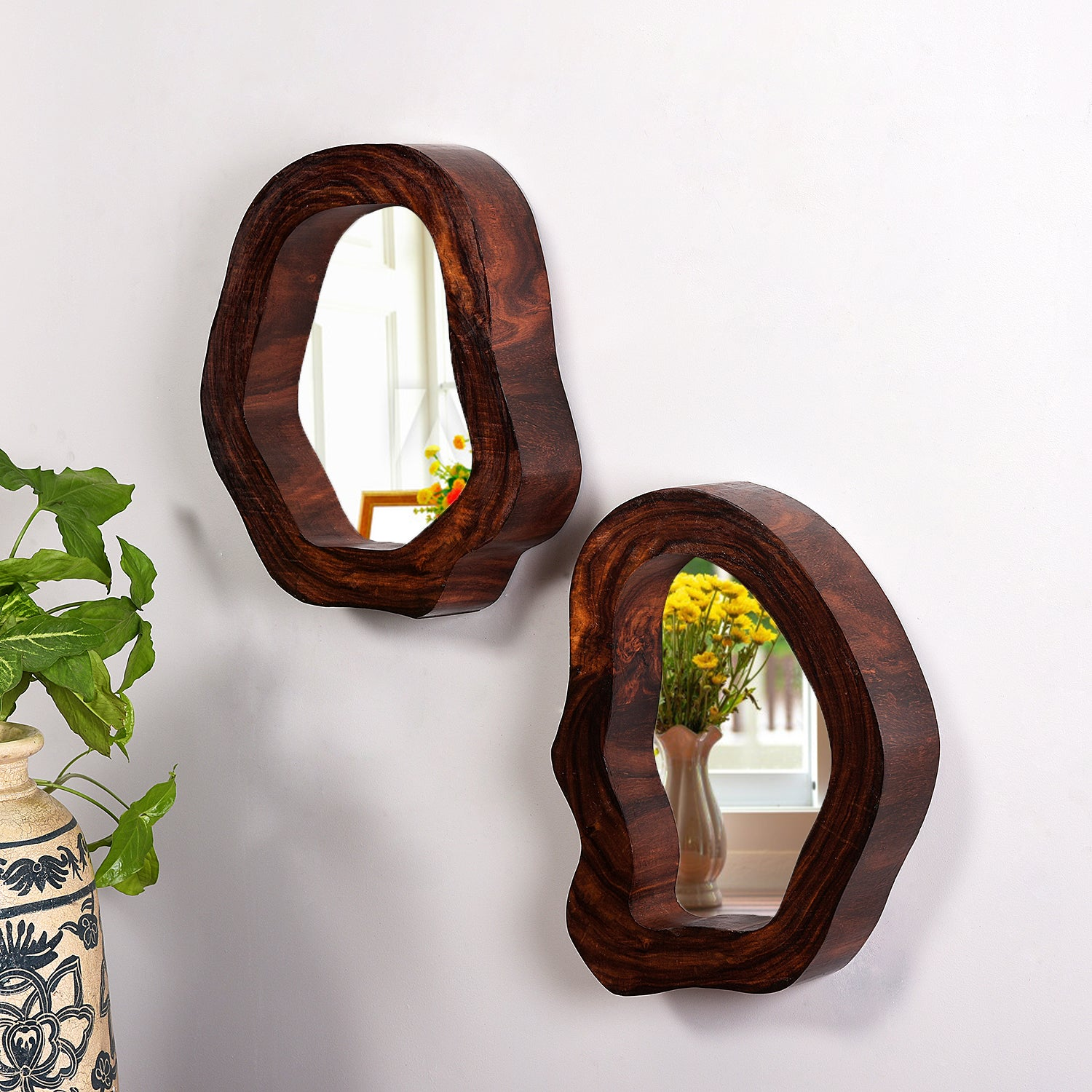 Tree Hollow Mirrors (set of 2)