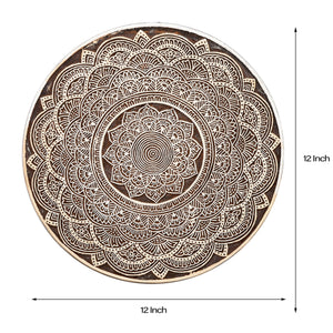 Mandala Motif - Handcarved Wood Wall Hanging