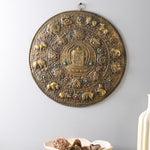 The Auspicious Buddhist Calendar (Gold) - Handcarved Wall Decor