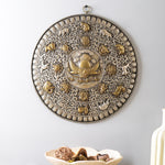 The Auspicious Buddhist Calendar (Silver) - Handcarved Wall Decor