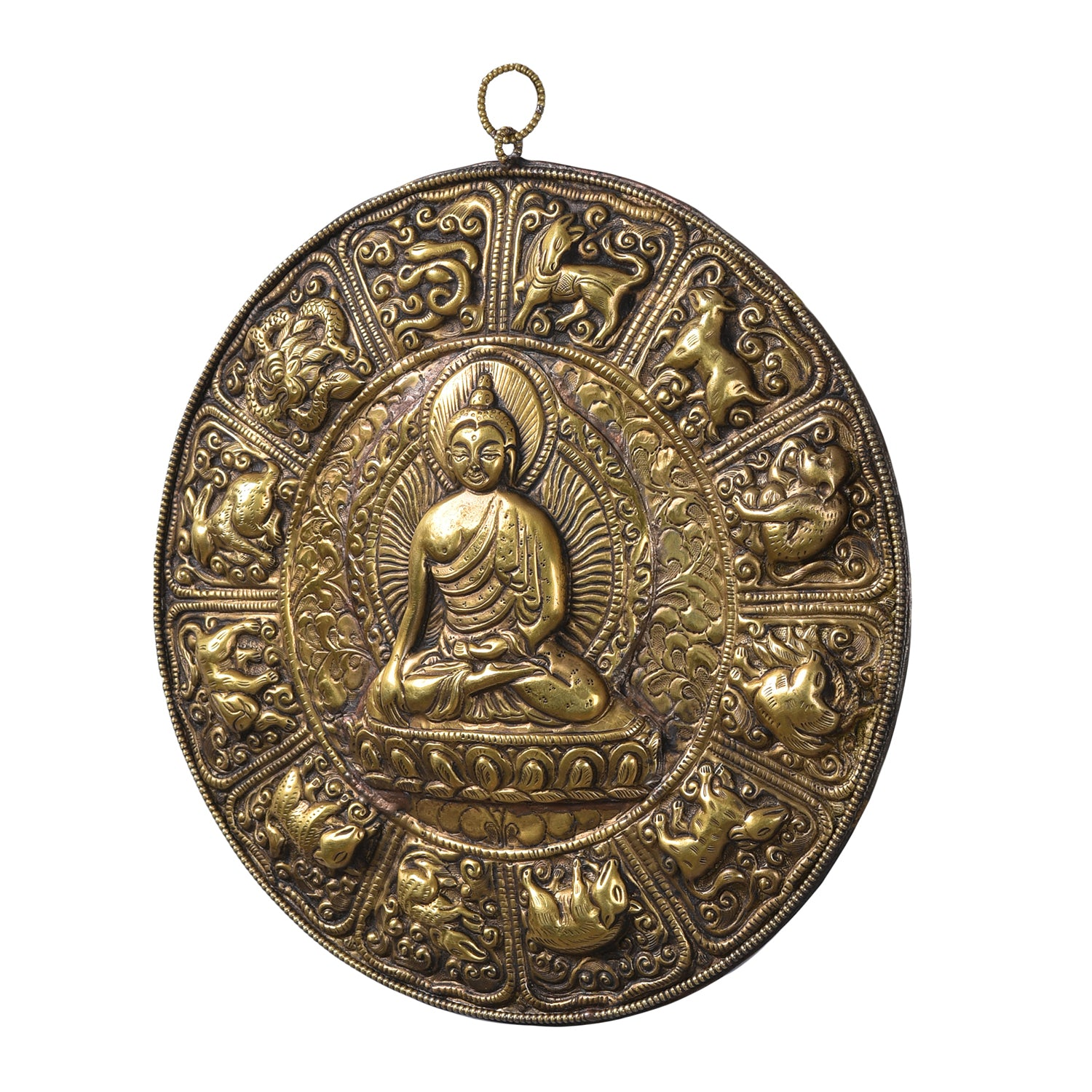 The Buddhist Calendar - Handcarved Wall Decor (Buddha)