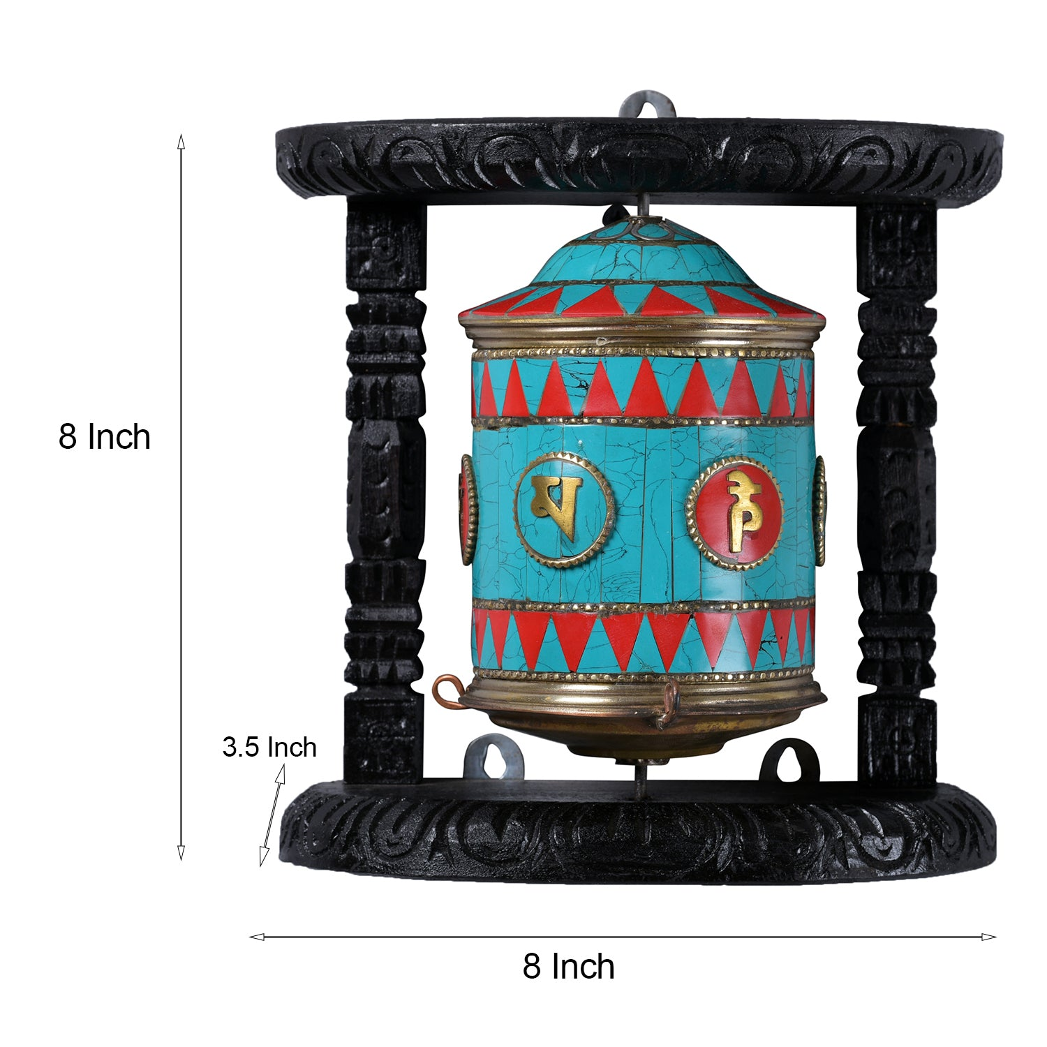 Turquoise Buddhist Prayer Wheel