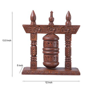 Handcarved Buddhist Prayer Wheel (Limited Edition)
