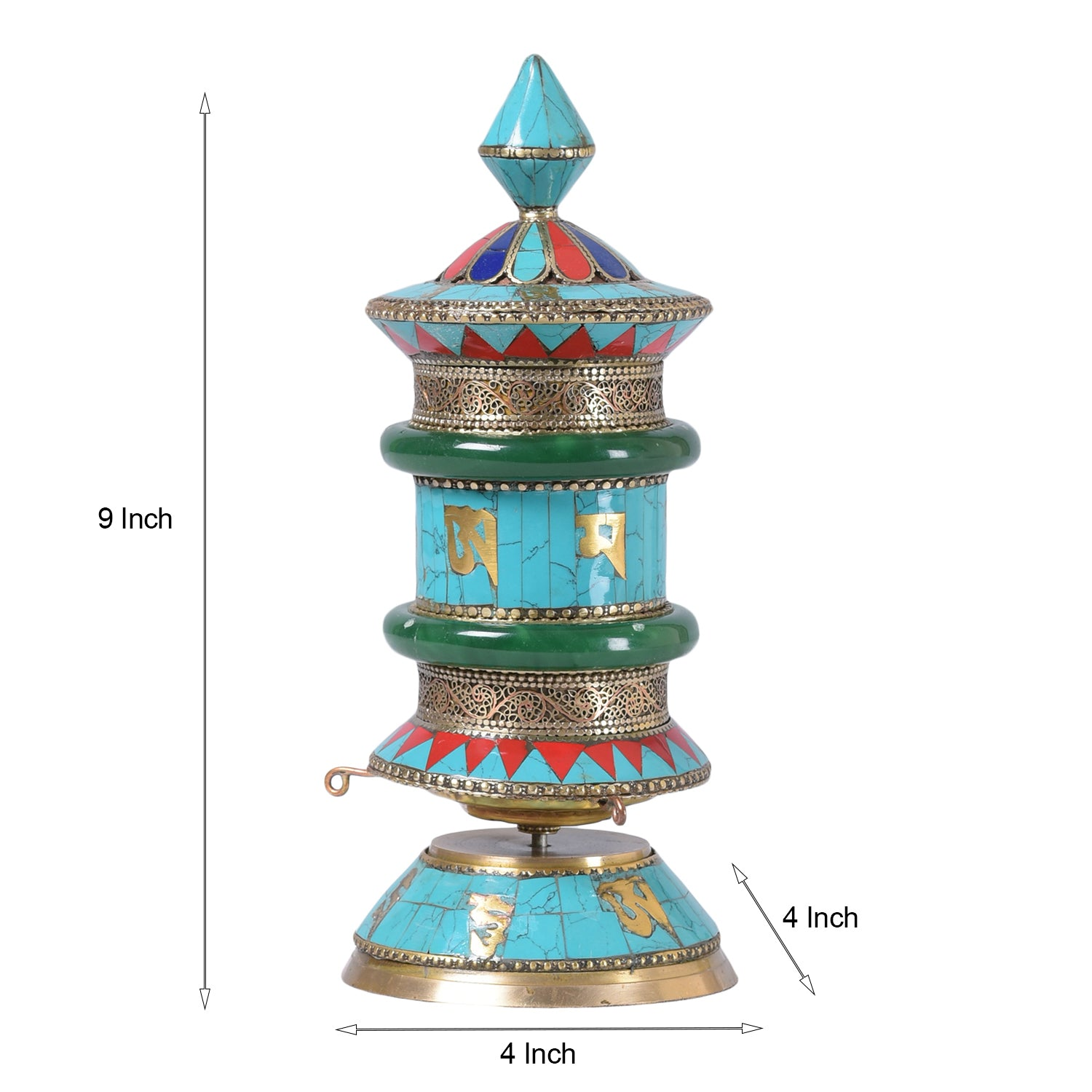 Jade Stone Buddhist Prayer Wheel (Limited Edition)