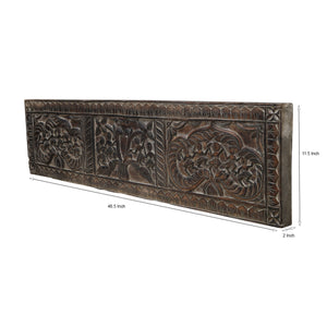 Handcarved Tribal Wall Panel (Rectangle)