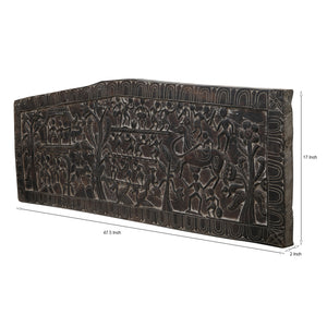 Handcarved Tribal Wall Panel (Pentagon)