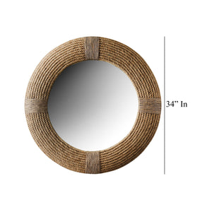 Earthen Swirls - Rope Design Wall Mirror