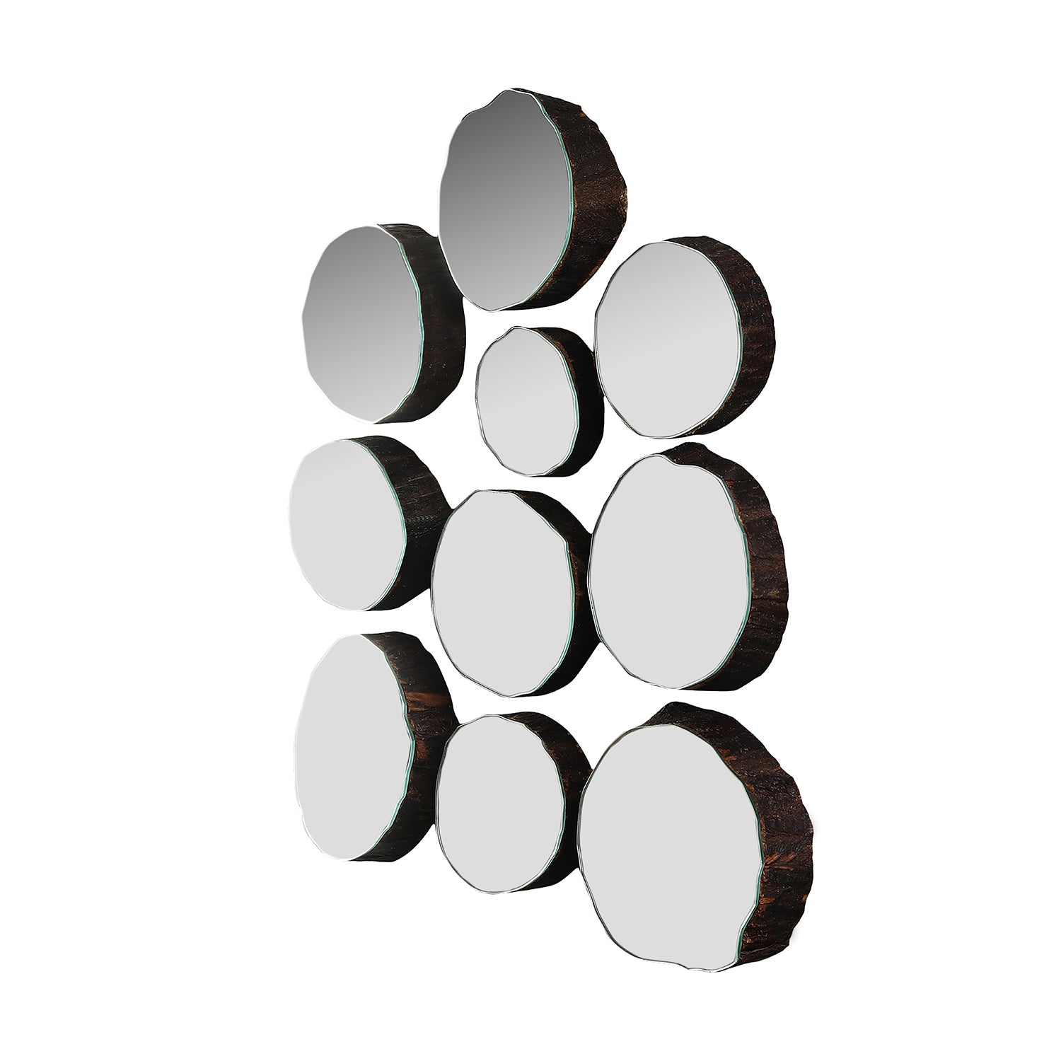 Blissful Elegance - Mirror Mounted Tree Logs (set of 10)
