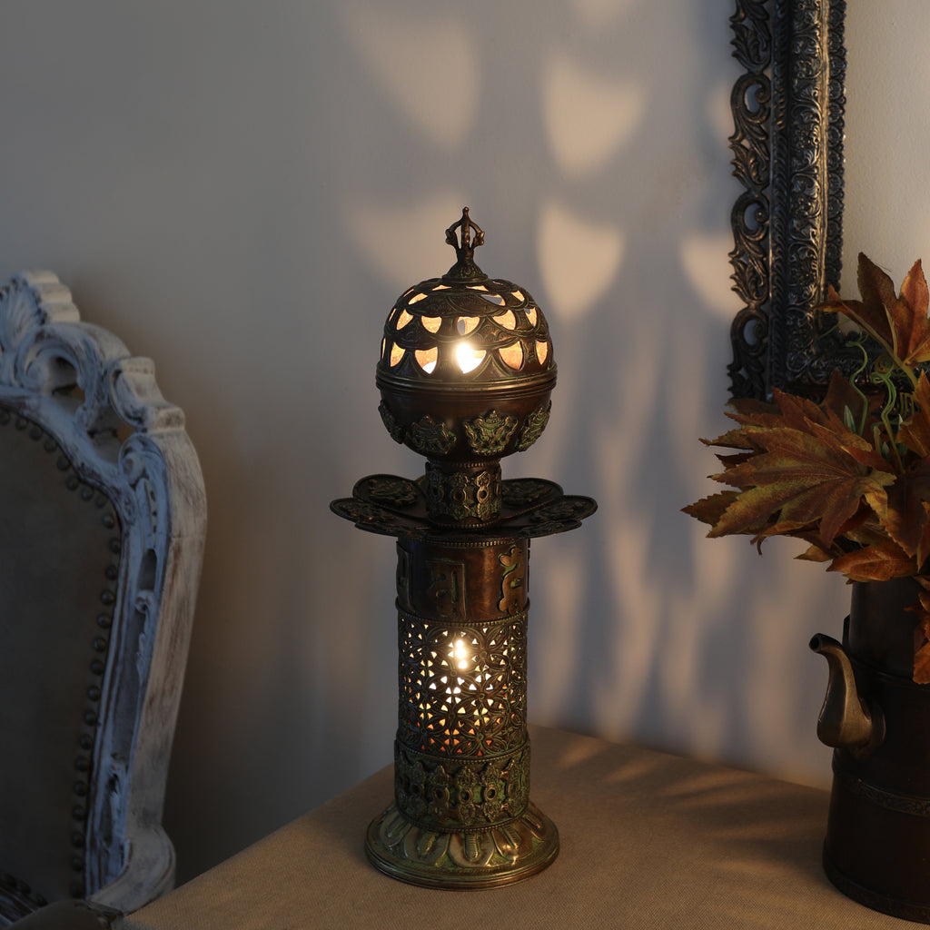 The Meshed Dome - Antique Incense/Candle Holder