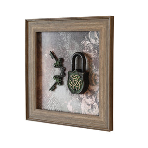 Lock 'n' Key - Vintage Wall Art (single frame)