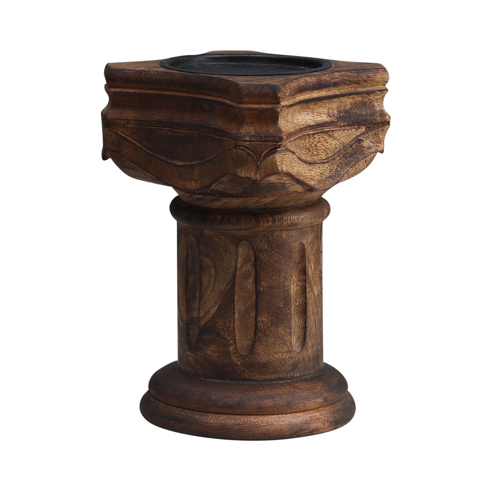 The Rook - Handcarved Candle Stand