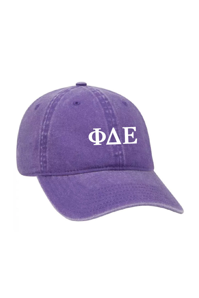 Purple Baseball Hat with Letters