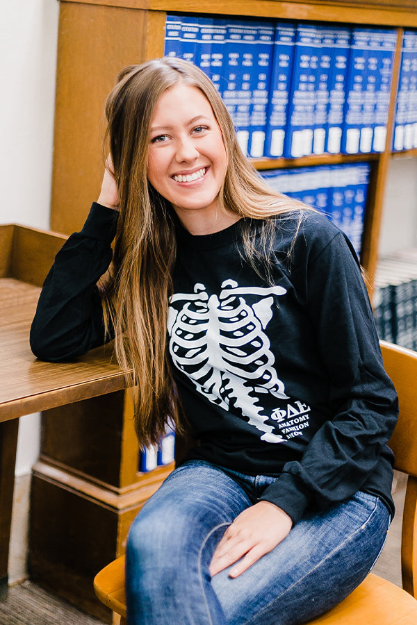 Anatomy Fashion Show Skeleton Longsleeve