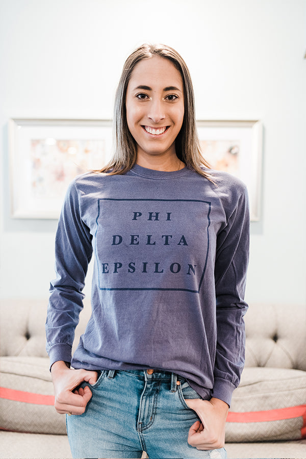 PhiDE Squared Long Sleeve Tee