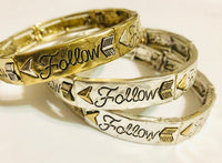 Follow Stretchy Bracelets