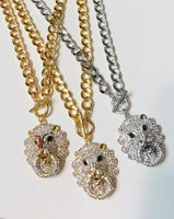 BLING LION NECKLACE